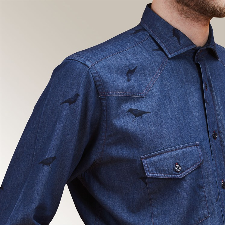 Denim Crow Shirt