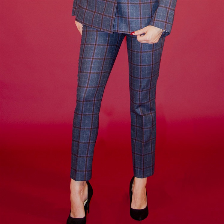 Womens Oatman Check Trouser