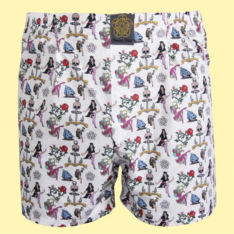 Coloured Tattoo Boxer Short
