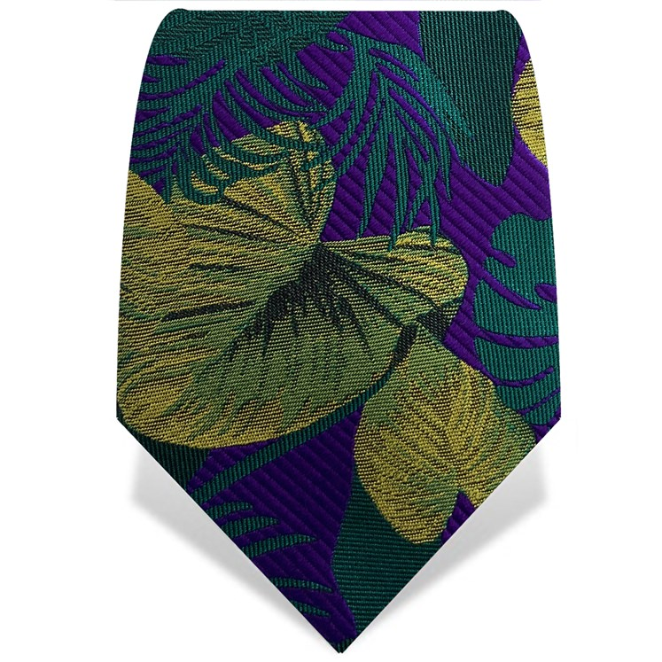 Purple & Green Palm Tie