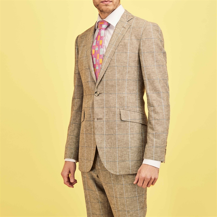 'Chelsea' Oatmeal Check Suit