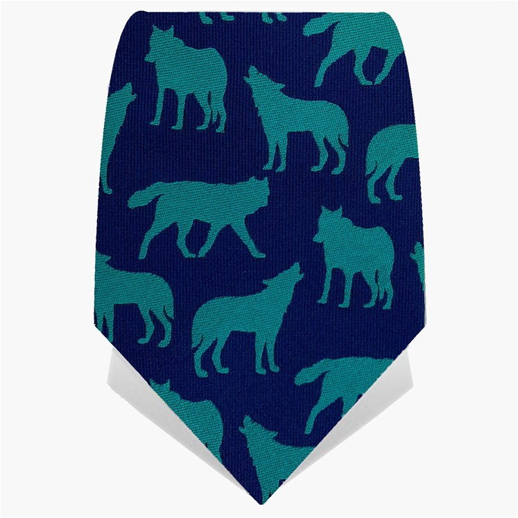 Blue & Turquoise Wolves Tie