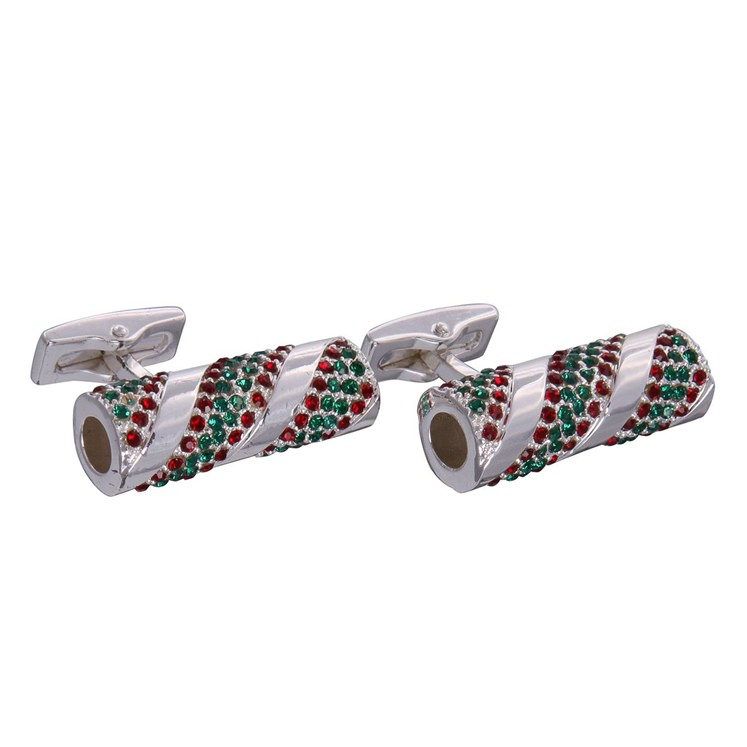 Silver Candy Roll Cufflinks