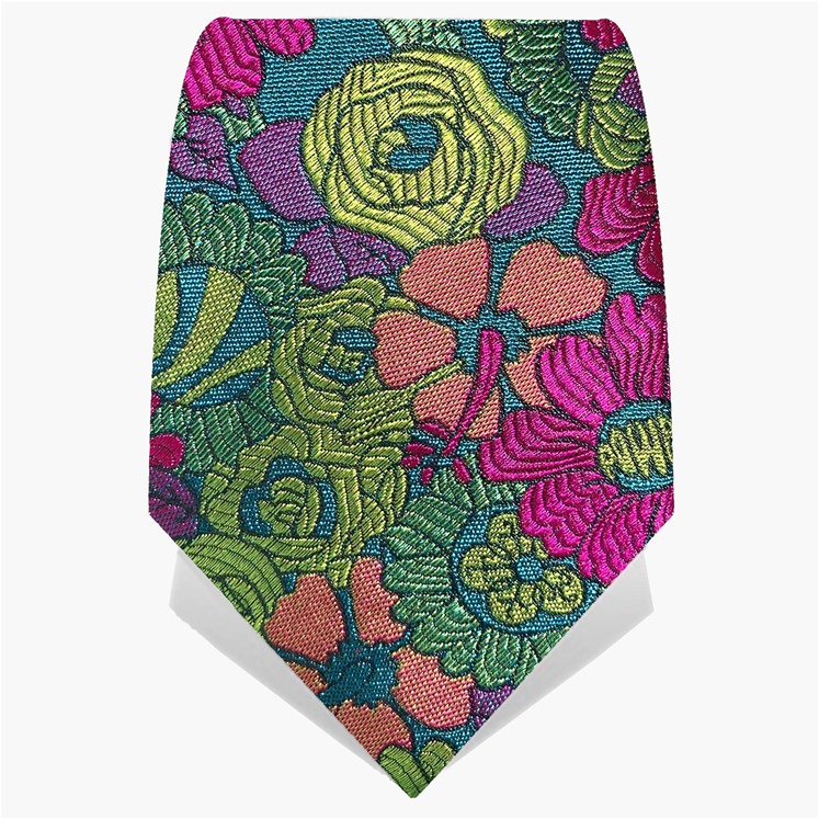 Yellow & Fuchsia Flower Power Tie
