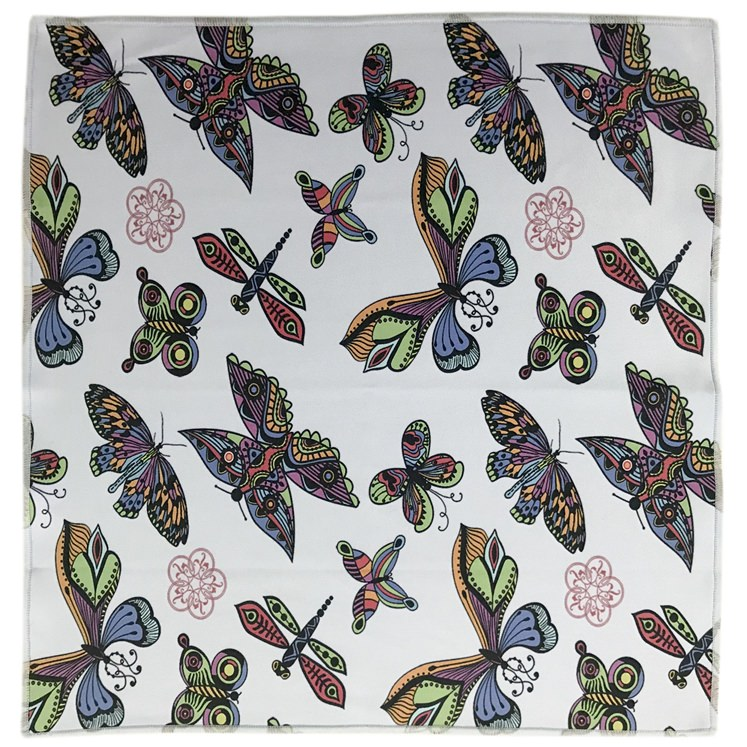 Purple Garden Butterfly Microfiber Pocket Square.