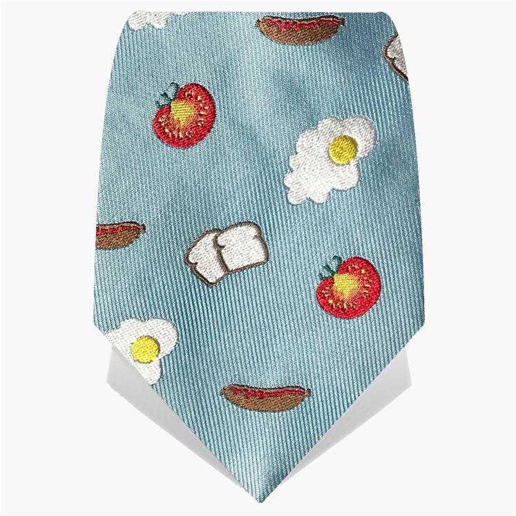 Blue Big Breakfast Tie