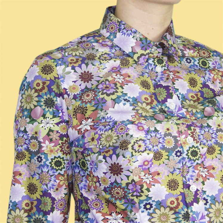 Womens Decadent Flower Blossoms Shirt