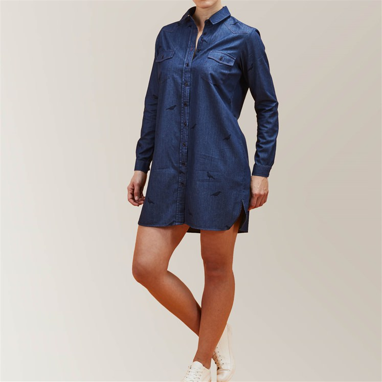 Womens 'Crow 'Denim Shirt Dress