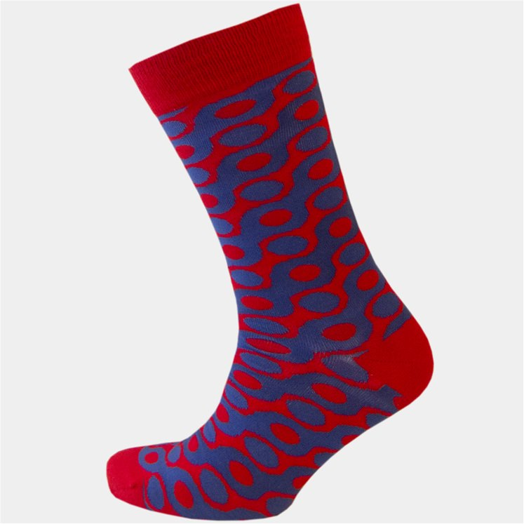 Red & Blue Spot Sock