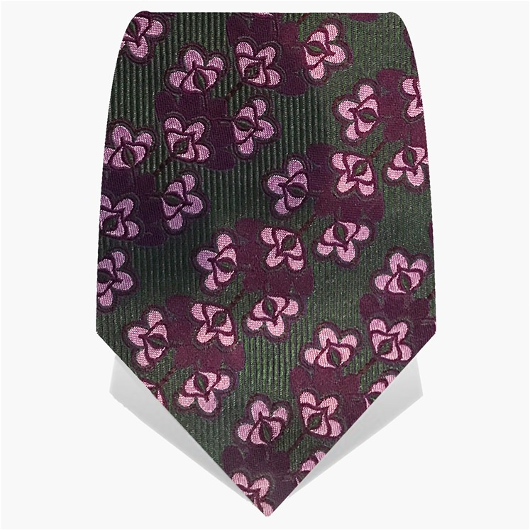 Green & Purple Kaleidoscope Tie