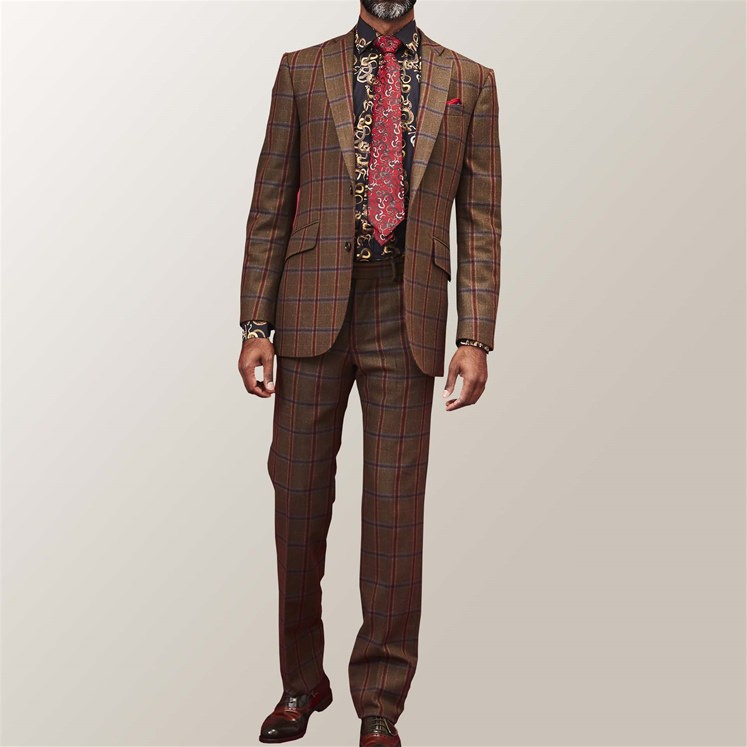 Green Check Tombstone Suit