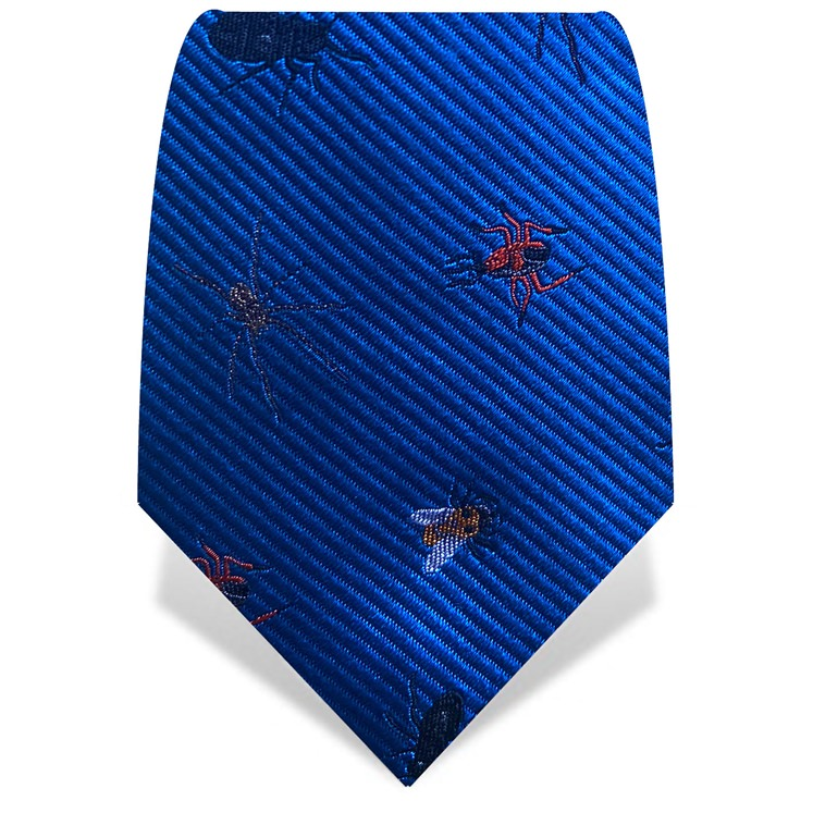 Blue Robot Insects Tie