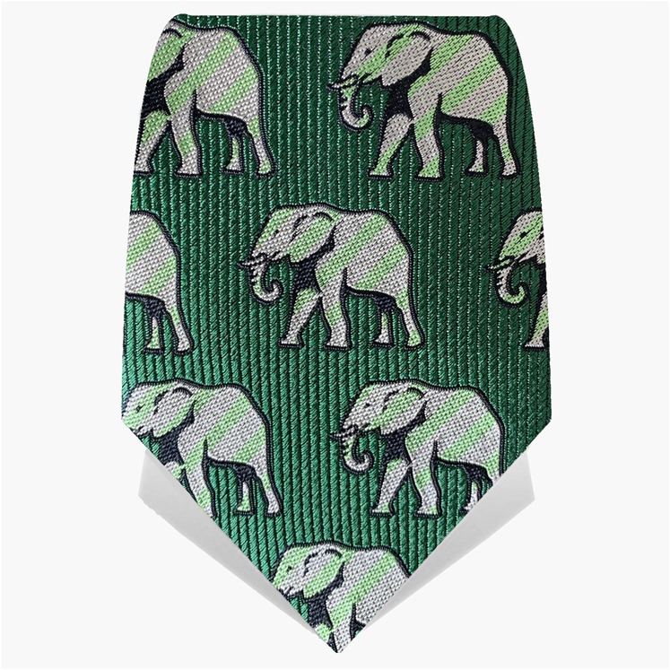 Green Elephants Tie