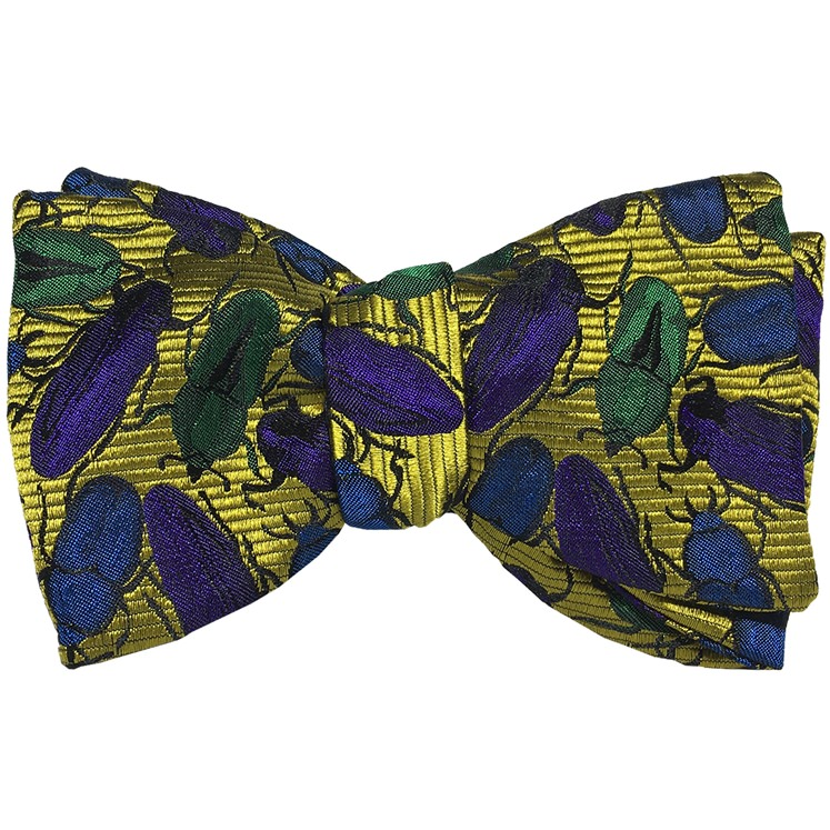 Yellow & Blue Beetles Bow Tie