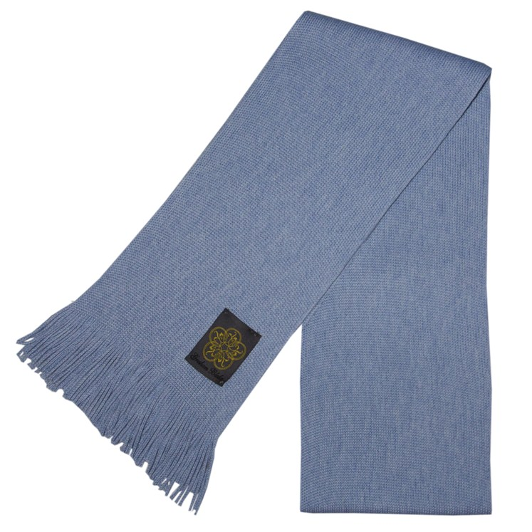 Light Blue Merino Wool Scarf