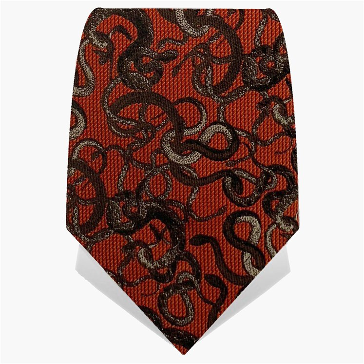Burnt Orange Knot Of Snakes Tie