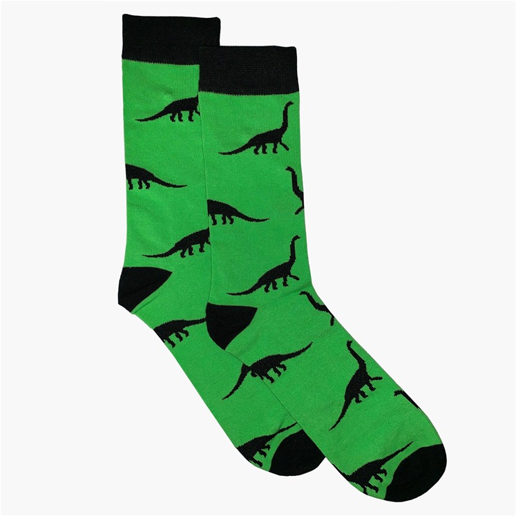 Green Dinosaur Sock