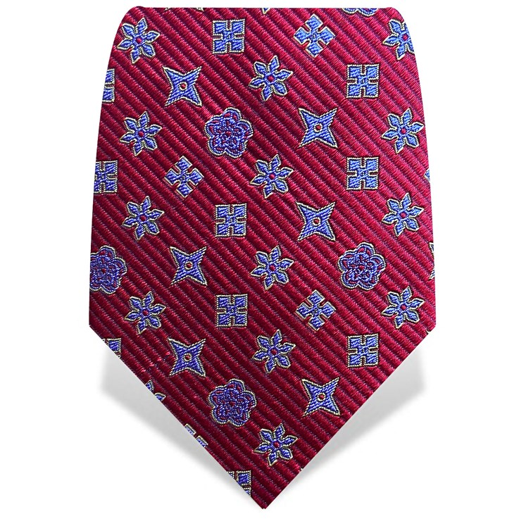 Red & Purple Throwing Stars Tie