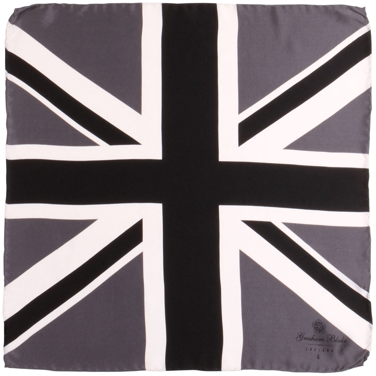 Black Union Flag Pocket Square
