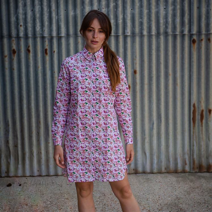 Hibiscus Shirt Dress