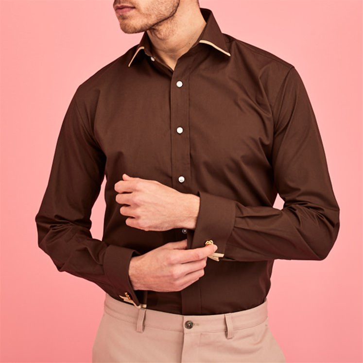 Brown 2 Tone Shirt