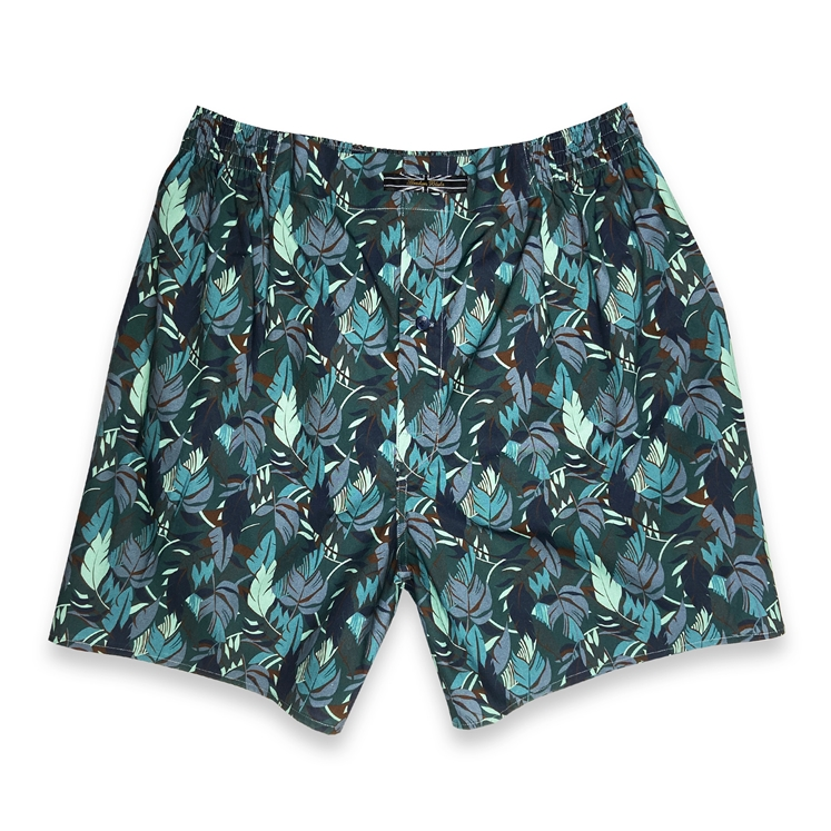 Blue Leaf Boxer Shorts