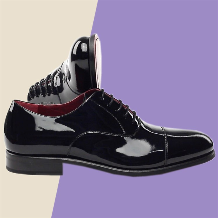Black Patent Leather Oxford Shoe