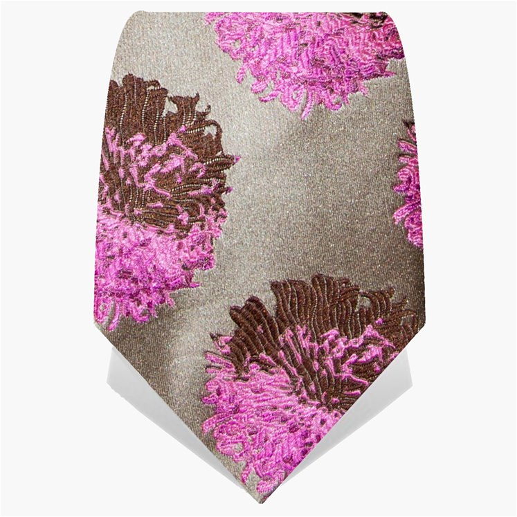 Pearl & Pink Abstract Tie