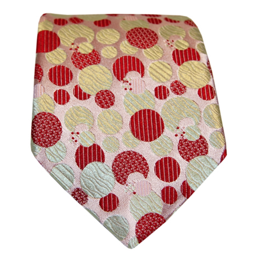 Spots Tie, Red & Green
