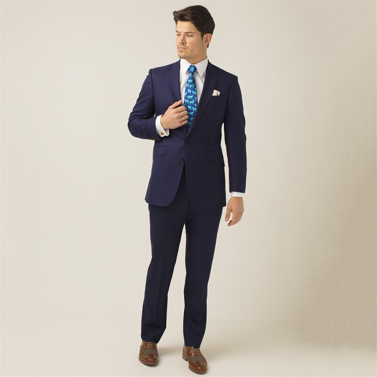 Navy 2 Piece Wool Suit