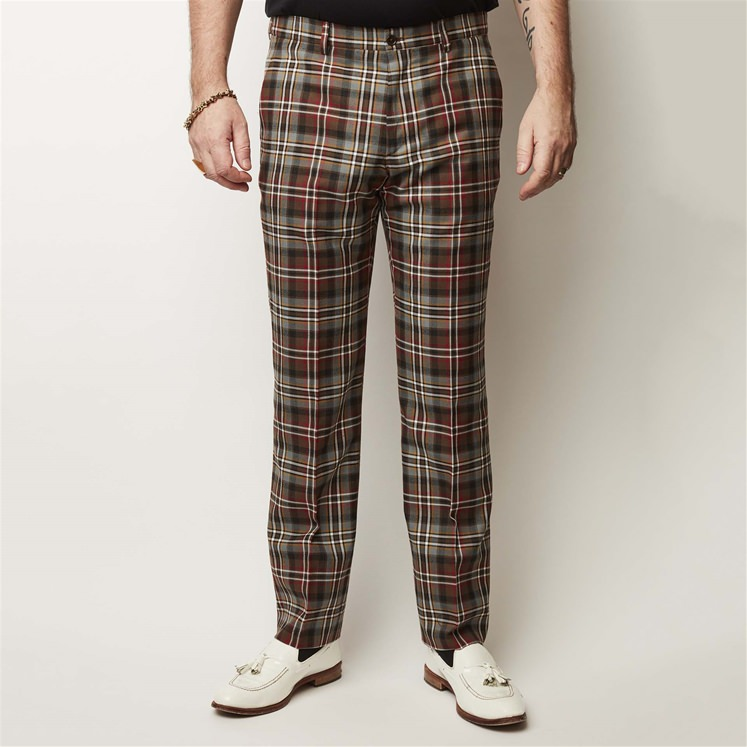 Scott Wheathered Tartan Trouser