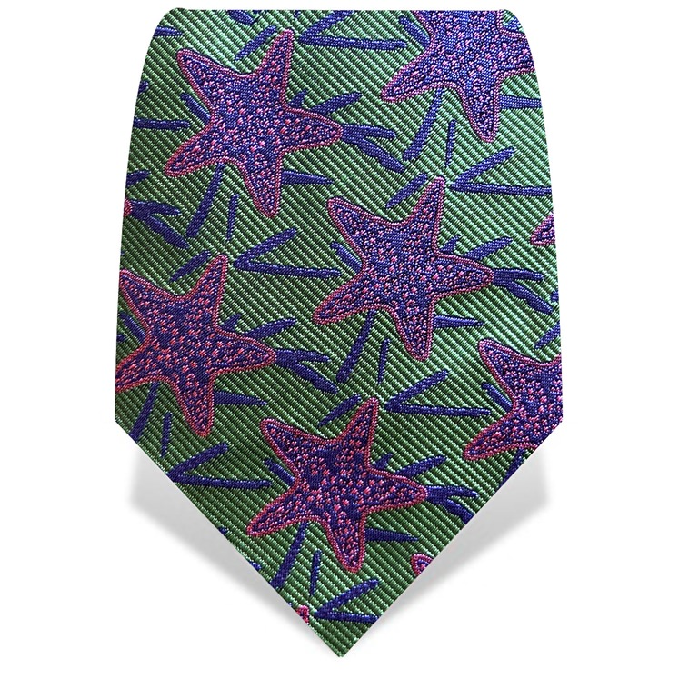 Green & Purple Starfish Tie
