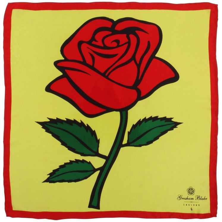 Yellow Rose Pocket Square