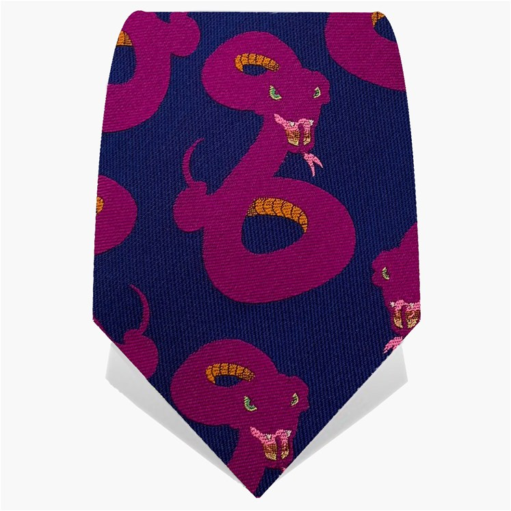 Purple & Pink Deadly Snakes Tie