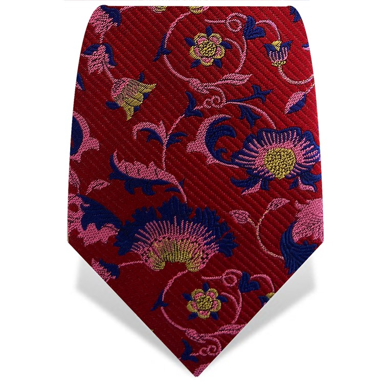 Red & Pink Wallflower Tie