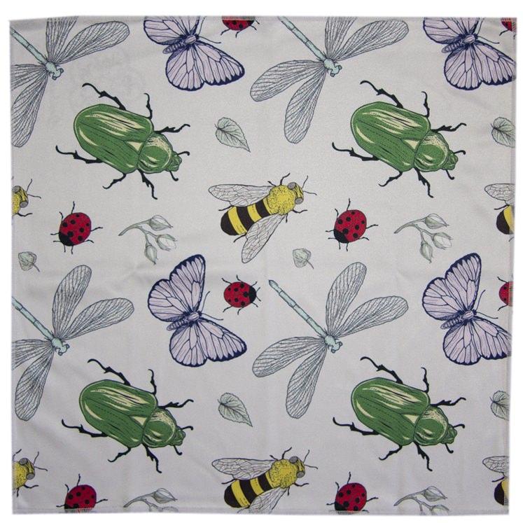 Bugs & Beetles Microfiber Pocket Square