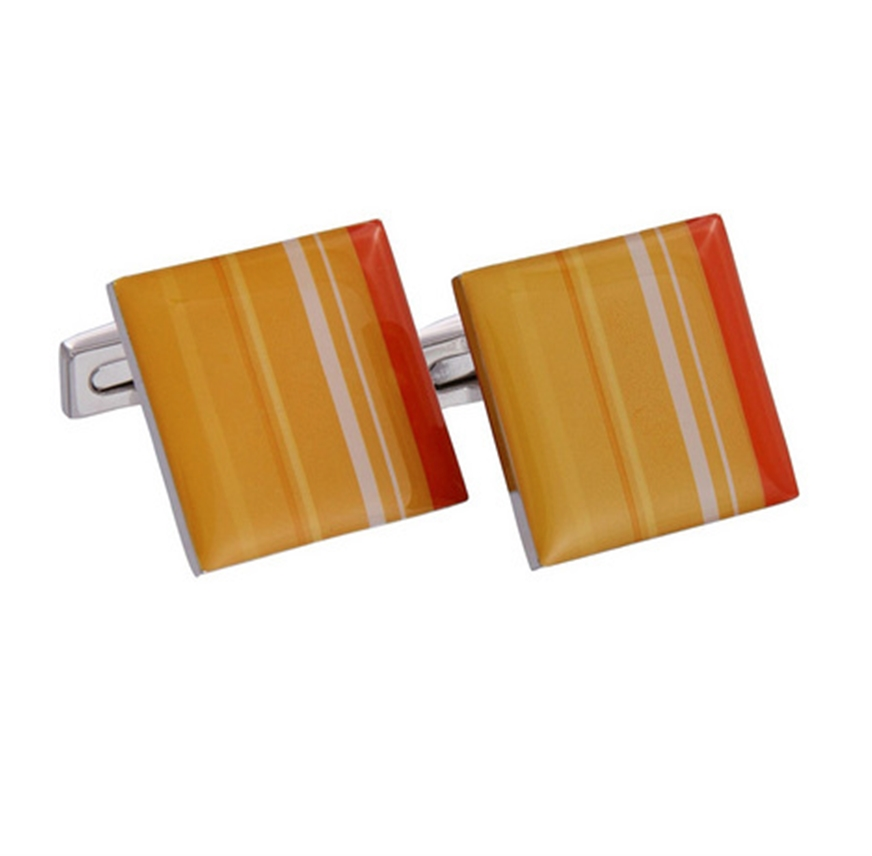 Yellow Enamel Cufflinks