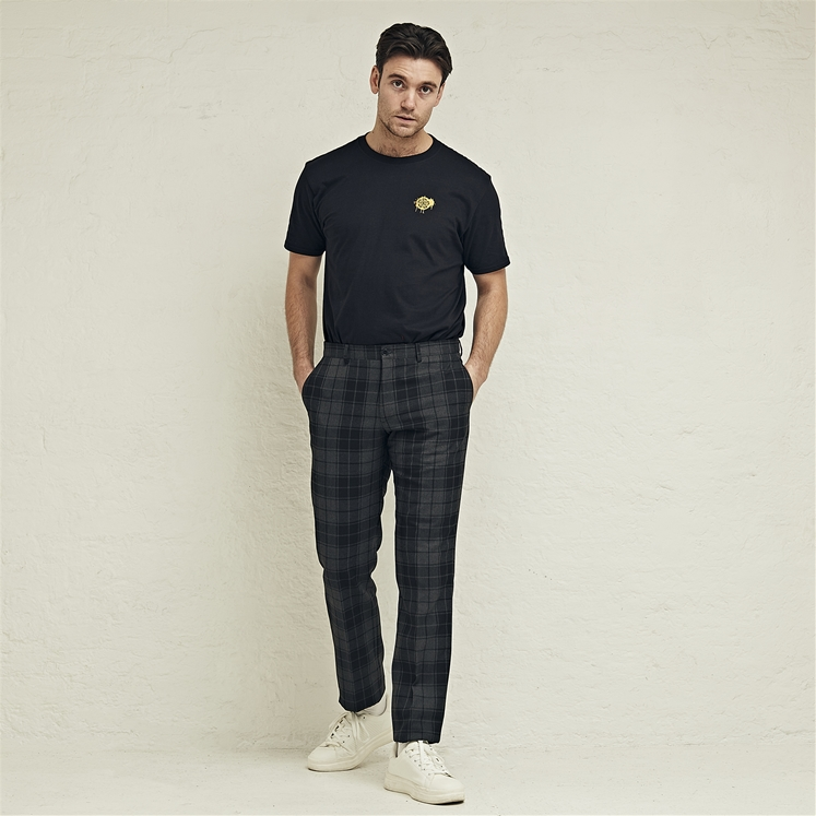 Grey Highlander Tartan Trouser