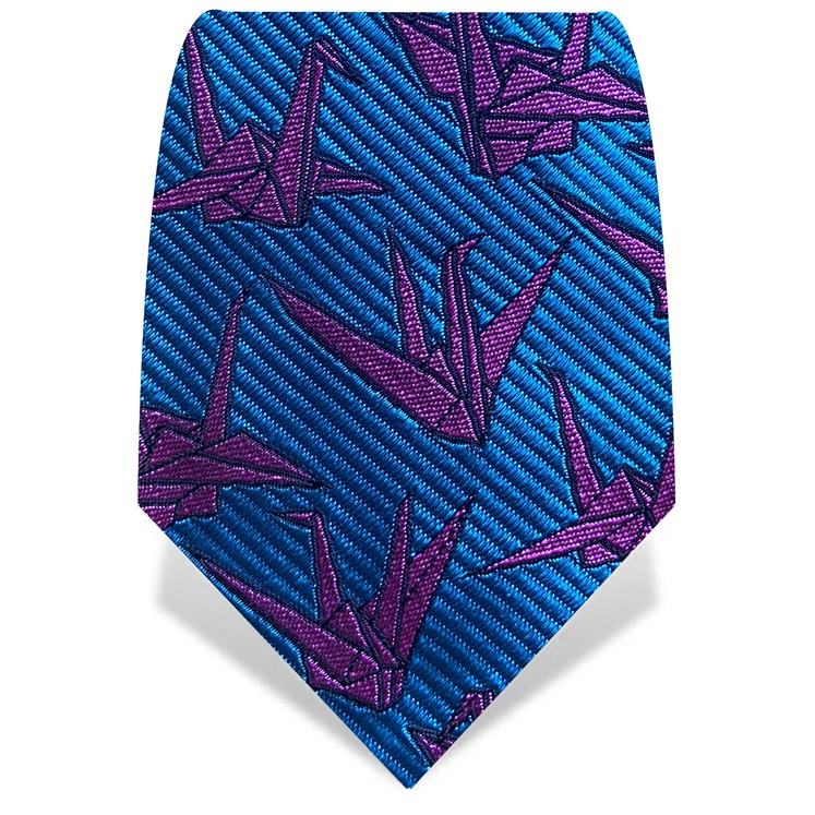 Blue & Purple Origami Tie