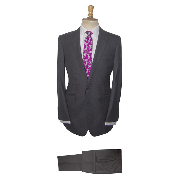 Charcoal Pin Dot Wool Suit