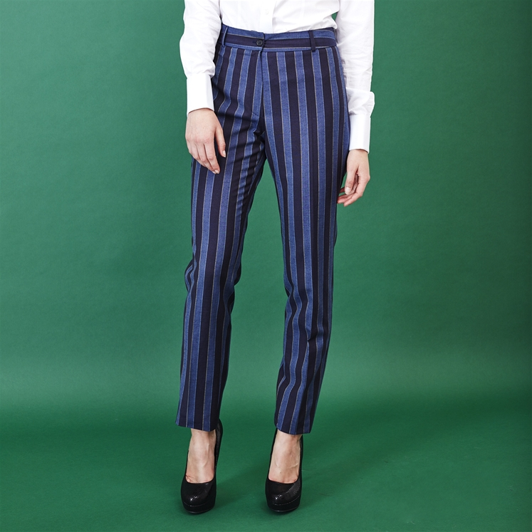 Ladies Blue Stripe Boating Trouser