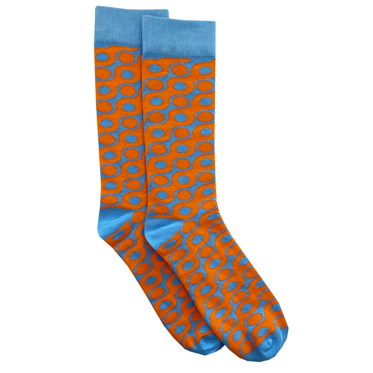 Orange & Blue Spot Sock