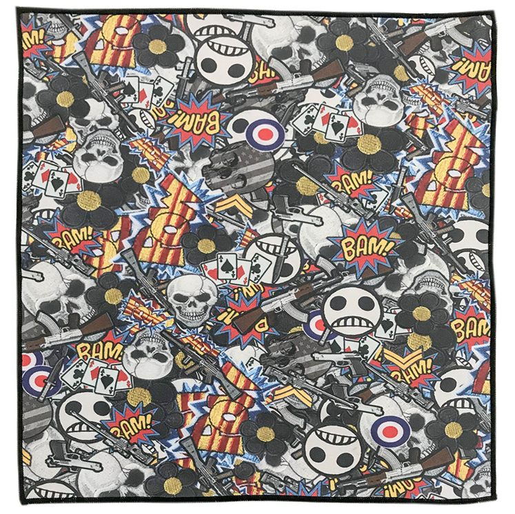Boys Toys Retro Patch Microfiber Pocket Square