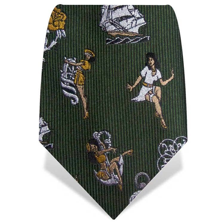 Green Tattoo Tie
