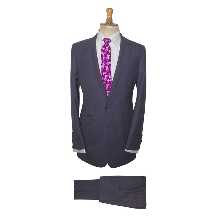 AW16 Navy Pin dot Berwick Suit