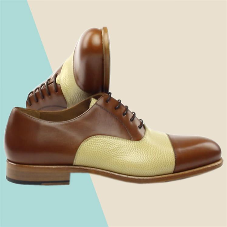 Pebble Tan Leather Oxford Shoe