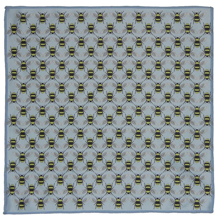 Bees Microfiber Pocket Square