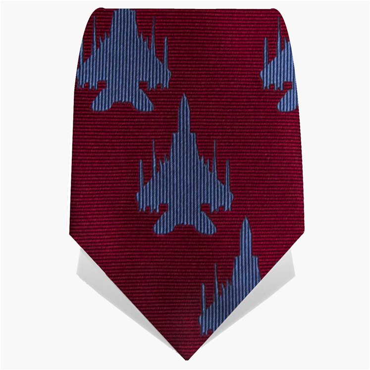 Red and Blue Plane Tie
