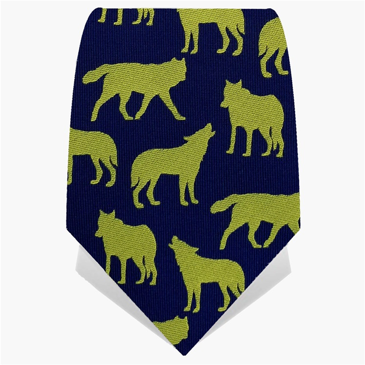 Yellow & Navy Wolves Tie