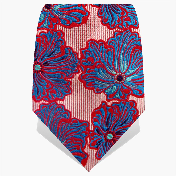 Red & Blue Wild Flower Tie